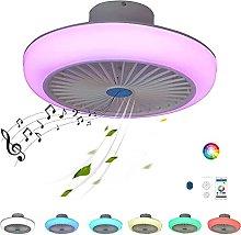 Modern Fan Ceiling Light with Bluetooth Speaker