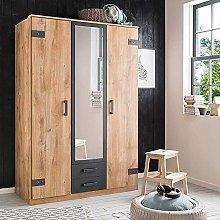 Modern Fashion Imitation Oak revolving Door Mirror