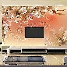 Modern Fashion Wall Mural Floral Photo Glitter