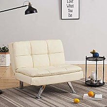 Modern Faux Leather 1 Seater Sofa Chair Padded