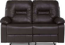 Modern Faux Leather Recliner Sofa Manual Reclining
