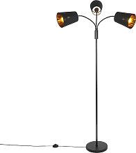 Modern floor lamp black 3-light - Carmen