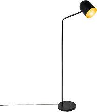 Modern floor lamp black with gold - Morik