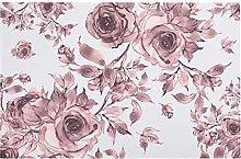 Modern Floor Mat Soft Lilac Roses Indoor Area Rug