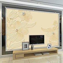 Modern Flower Background Wallpaper Living Room Tv