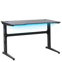 Modern Gaming Desk with RGB LED Light 120 x 60 cm