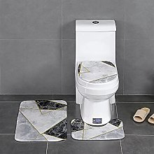 Modern Geometric Bathroom Bath Mat Set Floor