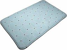 Modern Geometric Pattern Background Bath Mat Door