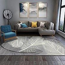 Modern Geometric Stripe Floor Mat Tea Table
