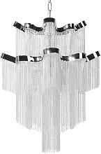 Modern Glam Chandelier Silver Ceiling Pendant Lamp