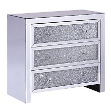 Modern Glam Mirrored Chest of Drawers Sideboard