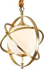 Modern Glass Ceiling Pendant Light Copper Bedroom