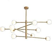 Modern Gold and Copper Chandelier Adjustable