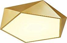 Modern Golden Semi Flush Mount Ceiling Light