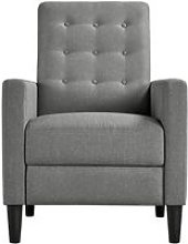 Modern Gray Fabric Recliner Chair Adjustable Sofa