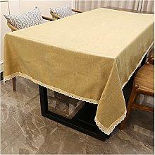 Modern Gray Linen Cotton Table Cover Rectangular