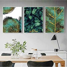 Modern Green And Gold Monstera Plant Canvas