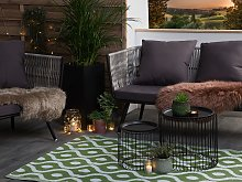 Modern Green Indoor Outdoor Synthetic Area Rug