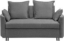Modern Grey 2 Seater Sofa Bed Sleeping Function