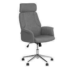 Modern Grey Office Desk Chair Swivel Height