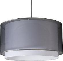 Modern hanging lamp with shade black / white 47/25