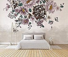 Modern Hd Hand Painted Fresh Rose Butterfly