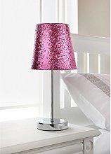 Modern Hot Pink Sparkling Metallic Glitter Shade