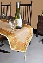 Modern Indian Home Decor Dining Table Runner Brown