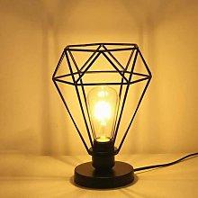 Modern Industrial Diamond Cage Table lamp, floor