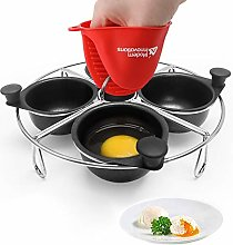 Modern Innovations Stainless Steel 4-Cup Egg