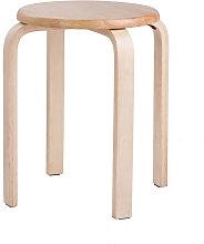 Modern K/D Rubber Wooden Stools Practical Round