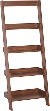 Modern Ladder Shelf 5 Tiers Bookcase Shelves Dark
