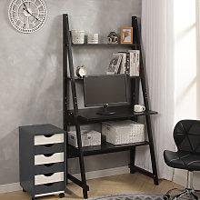 Modern Ladder Storage Display Shelf Computer Desk