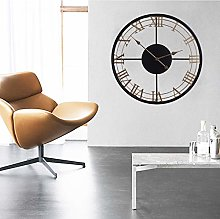 Modern Large Size 60cm Wall Clock,Round Metal Wall