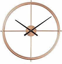 Modern Large Wall Clock,Round Metal Wall Clocks