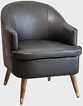 Modern leather armchair, comfortable single sofa