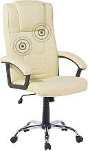 Modern Leather Massage Chair Heated Swivel Castors
