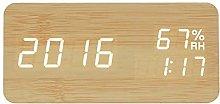 Modern LED Alarm Clock Temperature and Humidity