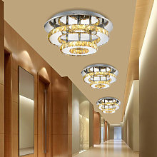 Modern Led Ceiling Light Luxury Clear Crystal