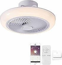 Modern LED Ceiling Light with Fan Quiet Operation