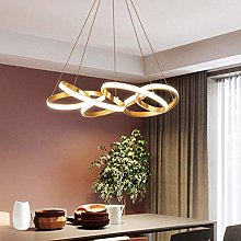Modern LED Chandelier Metal Acrylic Pendant Light
