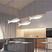 Modern LED Pendant Light, White Fish Shape