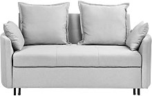 Modern Light Grey 2 Seater Sofa Bed Sleeping