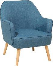 Modern Living Room Armchair Upholstered Wooden