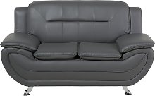Modern Living Room Faux Leather 2 Person Sofa