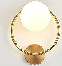 Modern Luxury Bedroom Round Shape Wall Light