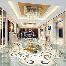 Modern Marble Floor Wallpaper 3D Living Room