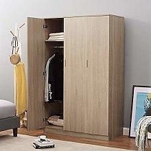Modern Matt Oak 3 door triple wardrobe with