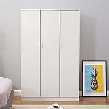 Modern Matt White 3 door triple wardrobe with
