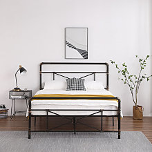 Modern metal bed double 4ft 6 bed frame solid bed